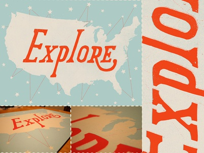 Explore Screen Print