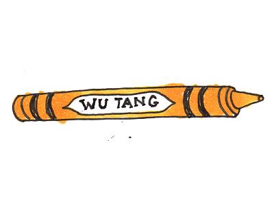 Wu-Tang Crayon comin' at ya yellow illustration