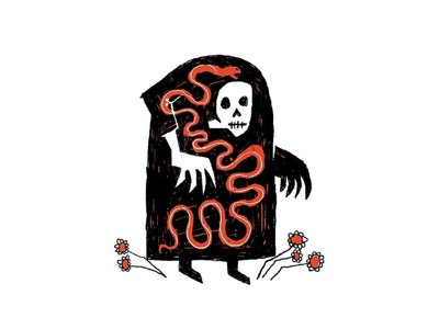 O'Death illustration print death