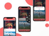 Social media share UI