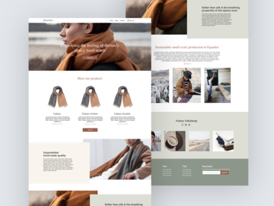Sustainable fashion webdesign