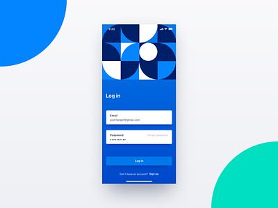 Login dailyui app design uxd ui login field form