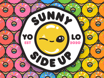 sunny side up vector donuts yogicats sunnysideup