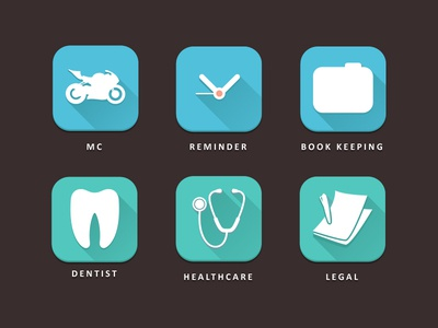 Icons for an insurance app