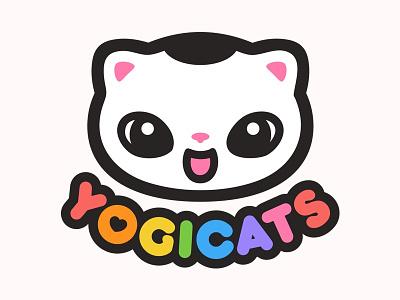 Rainbow finish of the Yogicats logo logo
