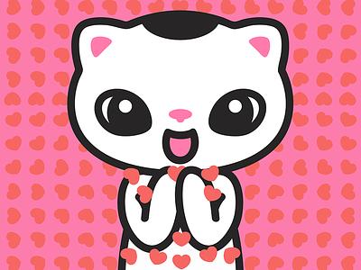 Love beyond measure love yogicats vectorillustration cat