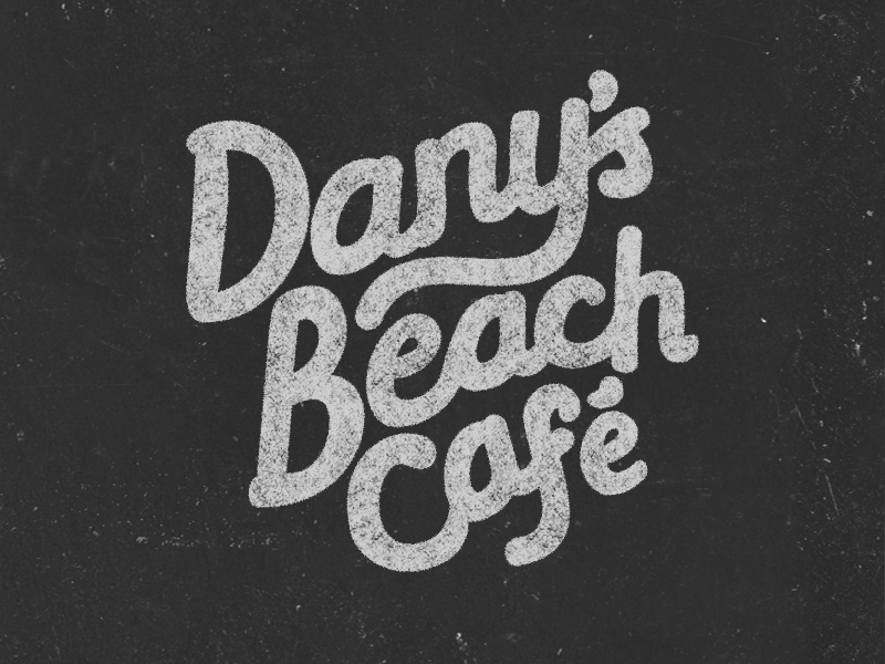 Dany's beach café hand lettering café