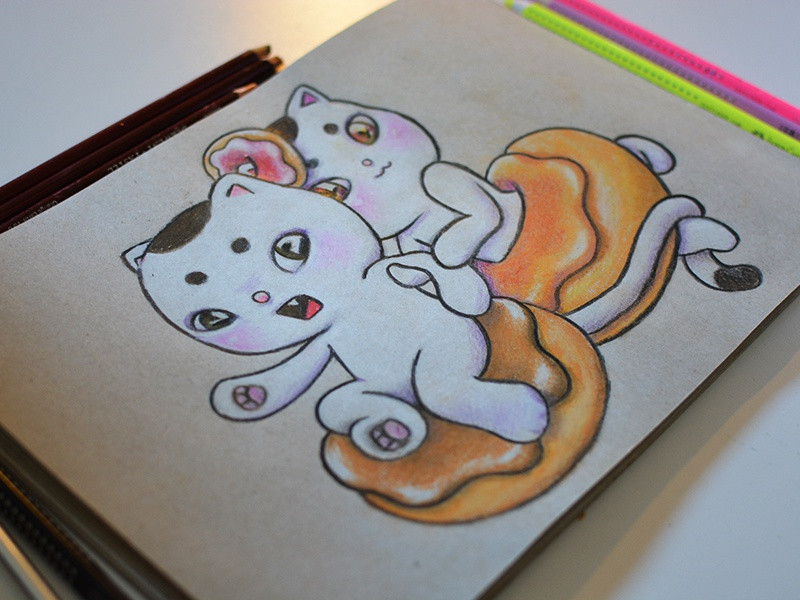 Cats with the munchies cats drawing