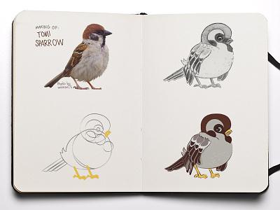 Sparrow Tomi luckyland vector sparrow