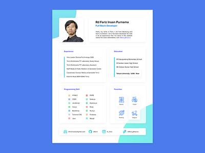 Simple Layout CV - Curriculum Vitae Design curriculum vitae cv layouting uiux cv creative design cv template cv design