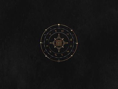 Astrology Logo time-chart space astrology branding vector design logo illustration concept design
