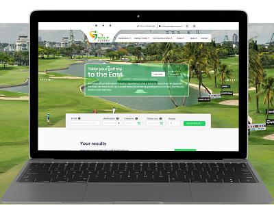 Golf Asia Home Screen interaction designer interaction logic interaction design user experience ui front-end design