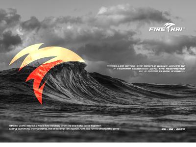 Fire Kai Logo Concept icon vector design branding logo illustration