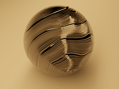 Gold waves with Blender Cycles Engine branding design blender3dart render blender3d blender logo concept design