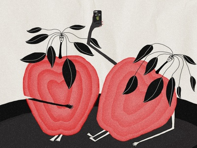 daily question 11 pink fruit graphic design apple illustration apples
