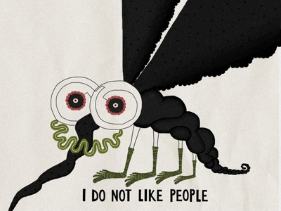 Mosquito confession mosquito graphic design illustration