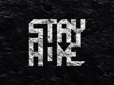 STAY HOME graphic design typography stay home