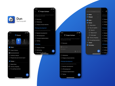 Dun To-do mobile to-do ios app design ui design ui app