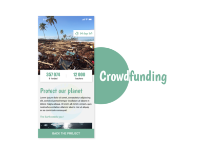 Crowdfunding Campaign | Daily UI n°32