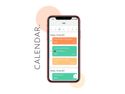 Calendar | Daily UI calendar design week month todolist todo calendar app calendar ui design dailyui daily ui