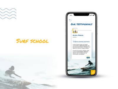 Testimonials | Daily UI sun testimonial testimonials surf school water sea ocean summer comments surfing surf blue ui dailyui daily ui
