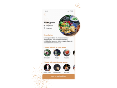Food Menu | Daily UI design menu card foodie food app drink drinks menu food menu menu food and drink orange food dailyui daily ui