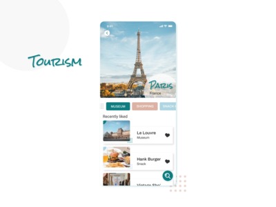 Favourites | Daily UI paris liked recently liked tourism like favorites favorite favourites design dailyui daily ui
