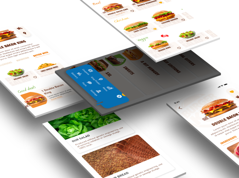 Burger King - Mobile App delivery app delivery fastfood food burger menu mobile app mobile burger king