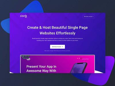 Dorik.io - No-code Website Builder & Hosting (Beta) pricing table homepage ui animation saas template landing page website design nocode builder website builder web design