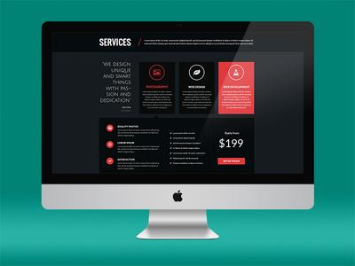Services Page Design services ui web design portfolio features