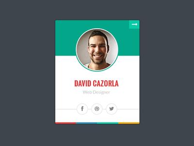 Team Member Profile profile widget team member skills about portfolio card