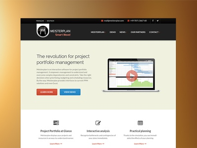 Meisterplan homepage ui web design corporate