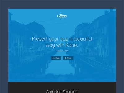 Kane - App Landing Page app landing page boostrap android iphone ios html css template themeforest