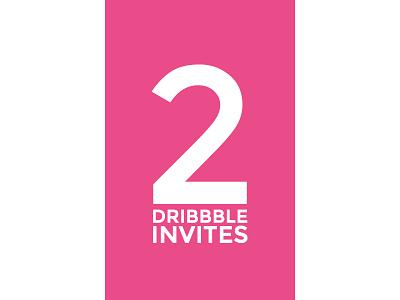 2 Dribbble Invitations dribbble invite invites invitation invitations draft prospect