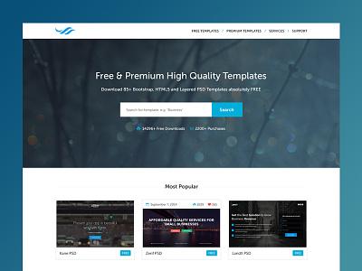 TemplateOcean Homepage [WIP] homepage template wip work in progress portfolio download premium free marketplace