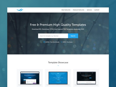TemplateOcean Homepage homepage template clean ui web design museo showcase search subscribe services portfolio