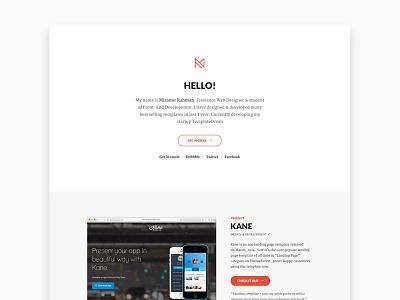Personal Website portfolio personal website homepage freelancer web design design clean minimalist app template