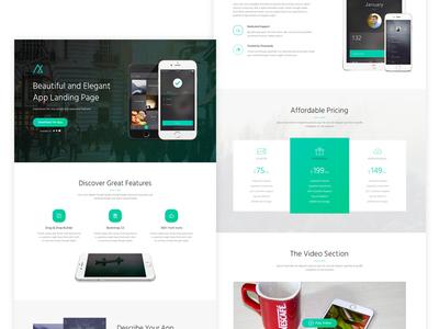 Nemo - App Landing Page  pricing app presentation ios android mobile app app ui ui design landing page web design
