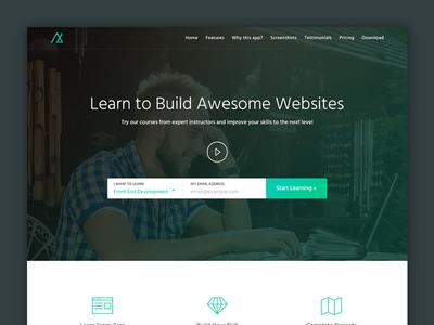 eLearning Landing Page pricing table tutorial learning online training online course elearning ui ui design landing page web design