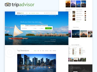 TripAdvisor Homepage Redesign Concept homepage ux ui tripadvisor redesign tripadvisor redesign
