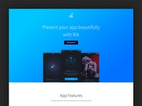 Free App Landing Page (Rik)