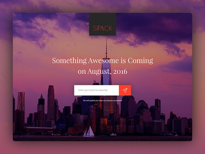 Coming Soon Page (WIP) colorful serif heading form subscribe ux ui template coming soon