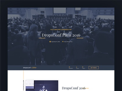 DropConf design creative template webconf freebie landing page event conference