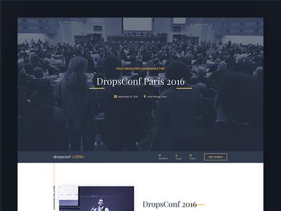 DropConf design creative template webconf freebie landing page event conference