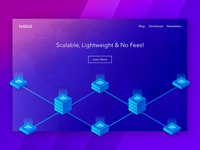Tangle - Isometric Homepage / Header Concept
