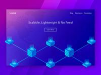 Tangle - Isometric Homepage / Header Concept affinity designer affinity currency header homepage crypto blockchain iot iota tangle