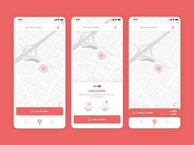 Clasp - Smart Bike Lock adobexd bike lock lock bike app design app uiux ui