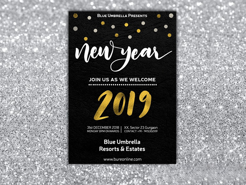 New Year Invitation Card By Rahul Gupta On Dribbble