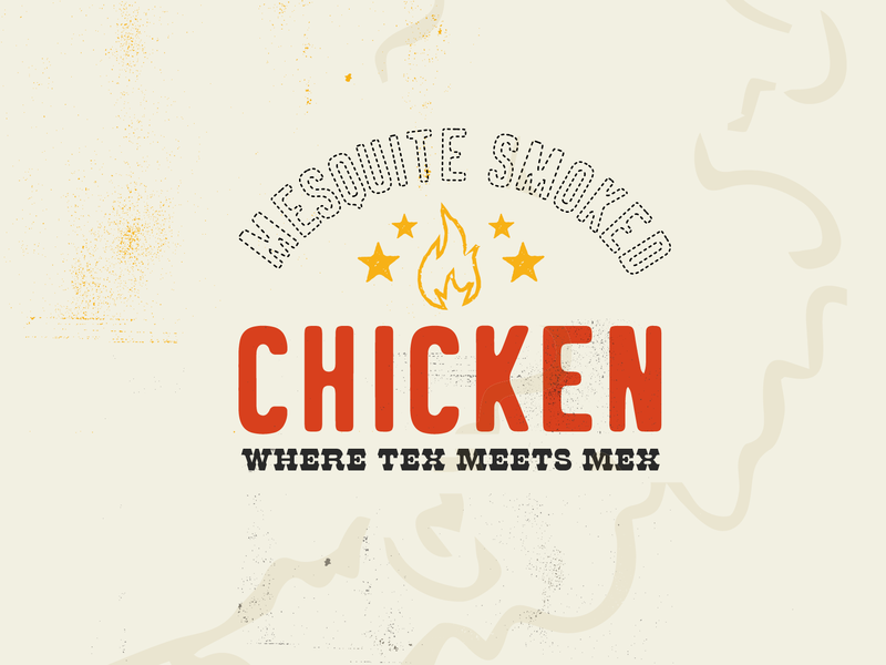 Smoked Chicken design campaign typography lock up