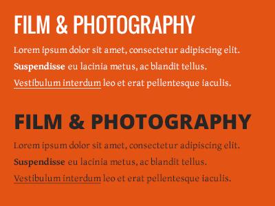 So Shoot Me Fonts & Colours orange bright fonts testing type